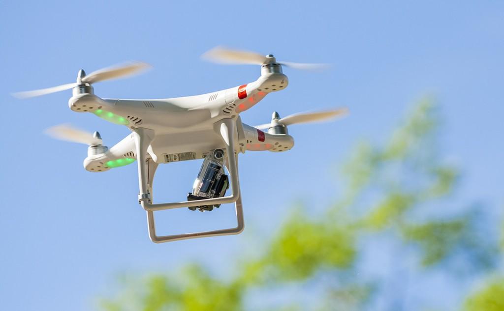control de plagas con drones